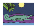 Crocodile Giclee Print by Denny Driver