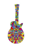Pop Art Guitar Butterfly Giclee Print by Howie Green