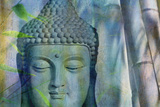 Budha with Bamboo Photographic Print by Cora Niele