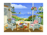 Wicker Porch Giclee Print by Geraldine Aikman