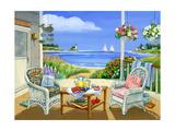 Wicker Porch Giclee Print by Geraldine Aikman