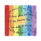 Over the Rainbow Giclée-tryk af Erin Clark