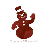 Snowman Giclee Print by Erin Clark
