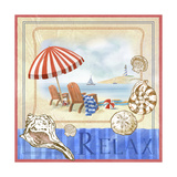 Beach Life I Giclee Print by Fiona Stokes-Gilbert