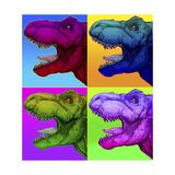 Pop Art Dinosaurs 1 Giclée-tryk af Howie Green