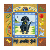 Good Dog Black Lab Giclee Print by Geraldine Aikman