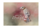 You are Beautiful with words Giclee Print by Jai Johnson