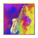 Saxophone Giclee Print by Howie Green