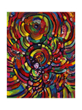 Cosmic Umbrella Lady Giclee Print by Howie Green