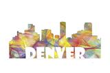 Denver Colorado Skyline Mclr 2 Giclee Print by Marlene Watson