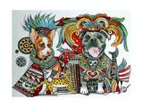 Chihuahua and Pitbull in Mexico Giclee Print by Oxana Zaika