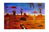 Spirit of the Flying Umbrella 2 Giclée-tryk af Leah Saulnier