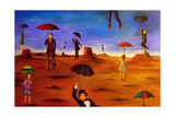 Spirit of the Flying Umbrella 2 Giclee Print by Leah Saulnier
