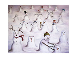 Mystery Revealed at Snowman Hill Giclee Print by Leah Saulnier