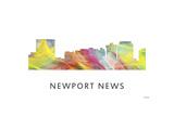 Newport News Virginia Skyline Giclee Print by Marlene Watson