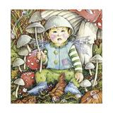 Funguy Has the Rain Stopped Yet Lámina giclée por Linda Ravenscroft