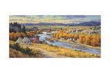 Snake River Encampment Giclee Print by Randy Van Beek