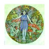 Dewdrop Faerie Giclee-trykk av Linda Ravenscroft