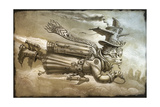 Steampunk Cat Rocketeer Giclee Print by Jeff Haynie