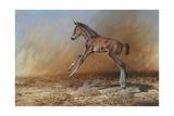 Foal Jumping for Joy Giclée-Druck von Michael Jackson