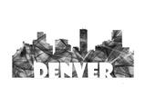 Denver Colorado Skyline BG 2 Giclee Print by Marlene Watson