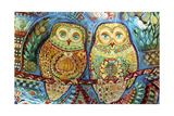 Byzantine Owls Giclee Print by Oxana Zaika