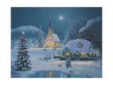 Christmas Lake Giclee Print by Richard Burns