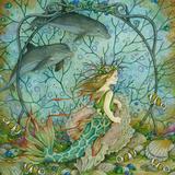 Den lille havfrue Giclee-trykk av Linda Ravenscroft