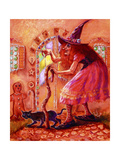 Gingerbread Witch Giclee Print by Judy Mastrangelo