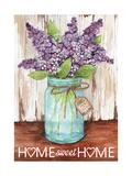Lilacs Home Sweet Home Jar Giclee Print by Melinda Hipsher