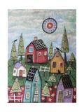 Prim Village 1 Giclee Print by Karla Gerard