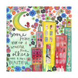 Make a Place Beautiful Giclee Print by Jennifer McCully
