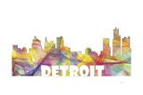 Detroit Michigan Skyline Mclr 2 Giclee Print by Marlene Watson