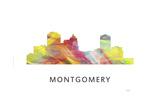 Montgomery Alabama Skyline Giclee Print by Marlene Watson