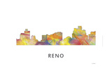 Reno Nevada Skyline Giclee Print by Marlene Watson
