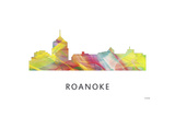 Roanoke Virginia Skyline Giclee Print by Marlene Watson