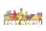 Fort Worth Texas Skyline Mclr 2 Giclee Print by Marlene Watson