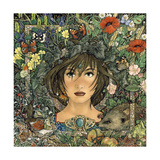 Circle of Seasons Lámina giclée por Linda Ravenscroft