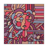Pop Art Deco Face 116 Giclee Print by Howie Green
