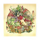 Gothic Toadstools Giclee-trykk av Linda Ravenscroft