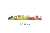 Topeka Kansas Skyline Giclee Print by Marlene Watson