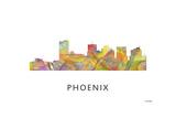 Phoenix Arizona Skyline Giclee Print by Marlene Watson