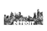 Detroit Michigan Skyline BG 2 Giclee Print by Marlene Watson