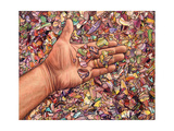 Fragmented Touch Giclee Print by James W. Johnson