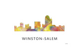 Winston-Salem North Carolina Skyline Giclee Print by Marlene Watson