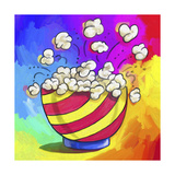 Pop-Art Popcorn Bowl Giclee Print by Howie Green