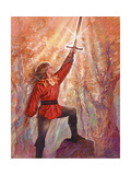 Excalibur Giclee Print by Judy Mastrangelo