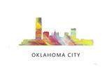 Oklahoma City Oklahoma Skyline Giclee Print by Marlene Watson