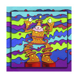 Pop-Art Clown Giclee Print by Howie Green