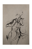 The Cellist Sketch Giclee Print by Marc Allante